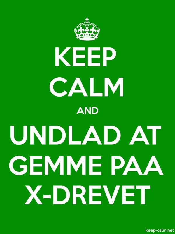 KEEP CALM AND UNDLAD AT GEMME PAA X-DREVET - white/green - Default (600x800)