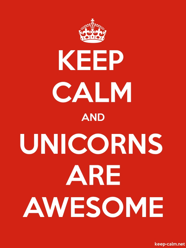 KEEP CALM AND UNICORNS ARE AWESOME - white/red - Default (600x800)