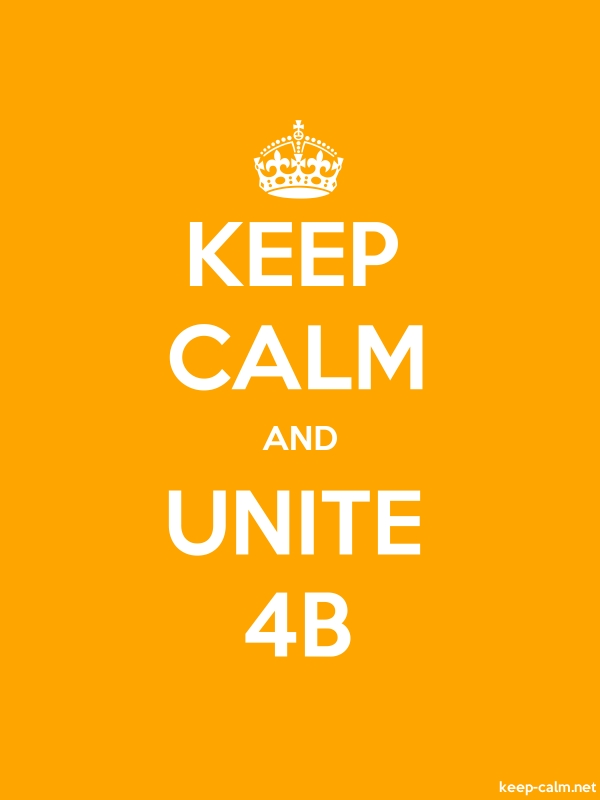 KEEP CALM AND UNITE 4B - white/orange - Default (600x800)