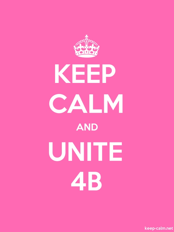 KEEP CALM AND UNITE 4B - white/pink - Default (600x800)