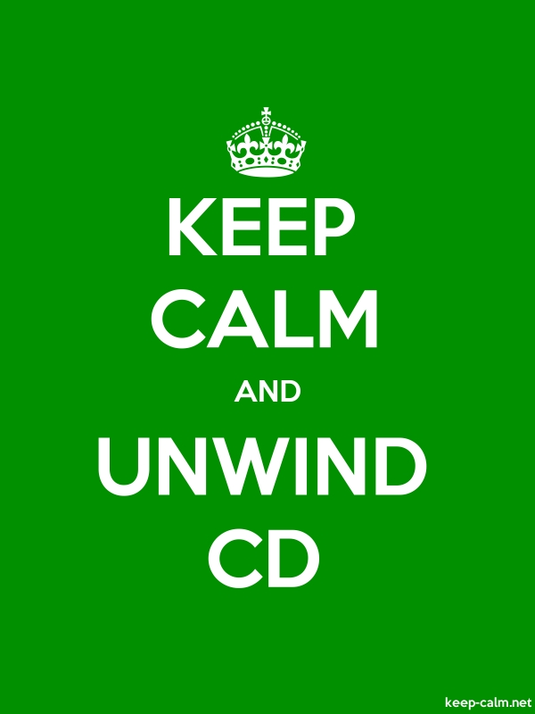 KEEP CALM AND UNWIND CD - white/green - Default (600x800)