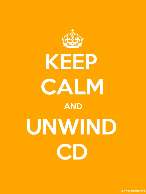 KEEP CALM AND UNWIND CD - white/orange - Default (600x800)