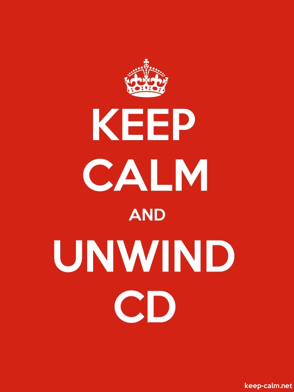KEEP CALM AND UNWIND CD - white/red - Default (600x800)