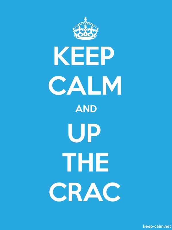 KEEP CALM AND UP THE CRAC - white/blue - Default (600x800)