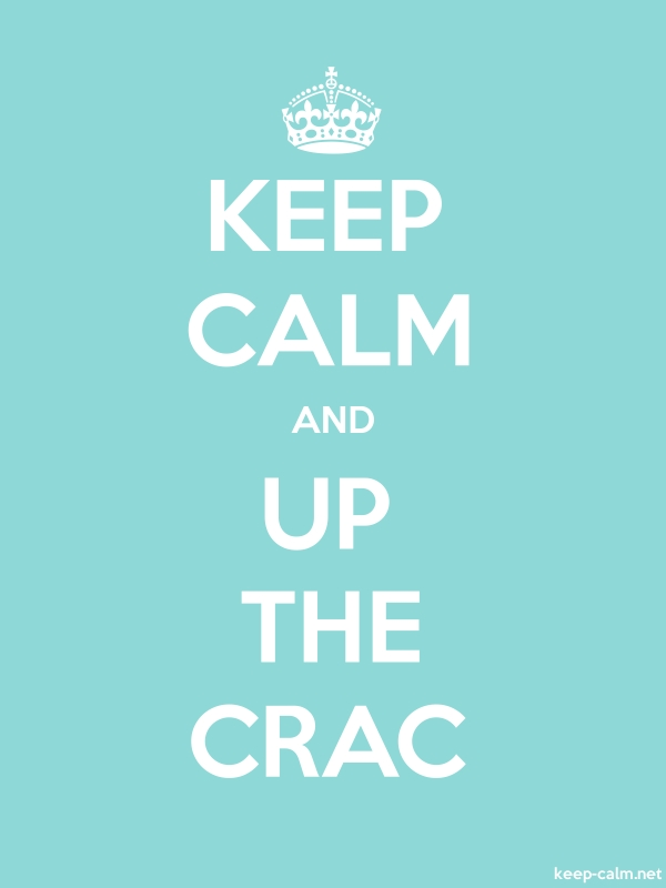 KEEP CALM AND UP THE CRAC - white/lightblue - Default (600x800)