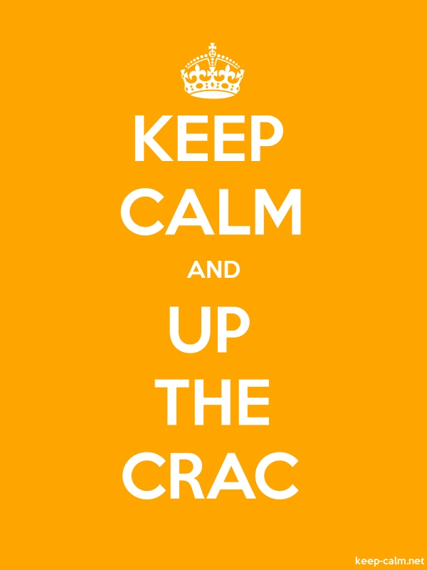KEEP CALM AND UP THE CRAC - white/orange - Default (600x800)