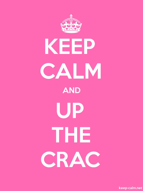 KEEP CALM AND UP THE CRAC - white/pink - Default (600x800)