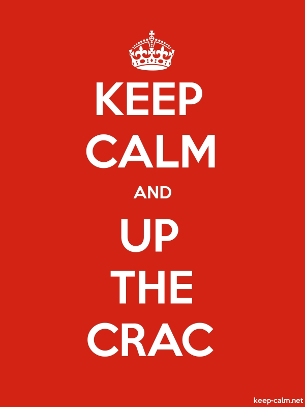 KEEP CALM AND UP THE CRAC - white/red - Default (600x800)