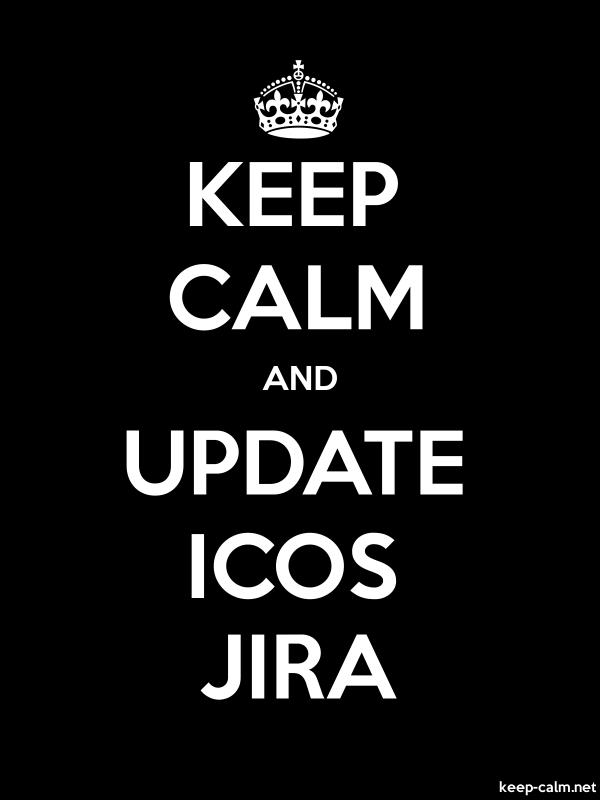 KEEP CALM AND UPDATE ICOS JIRA - white/black - Default (600x800)