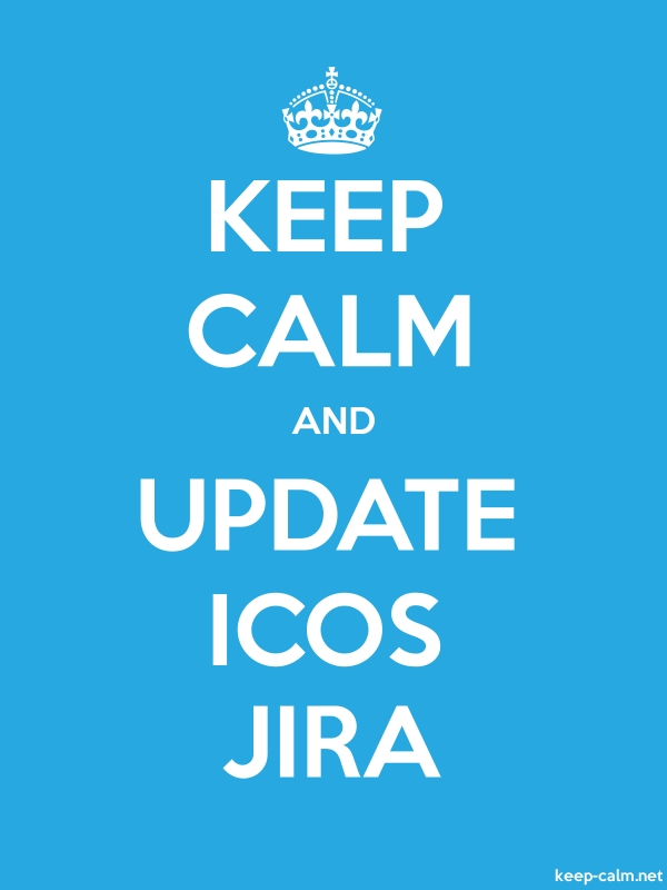 KEEP CALM AND UPDATE ICOS JIRA - white/blue - Default (600x800)