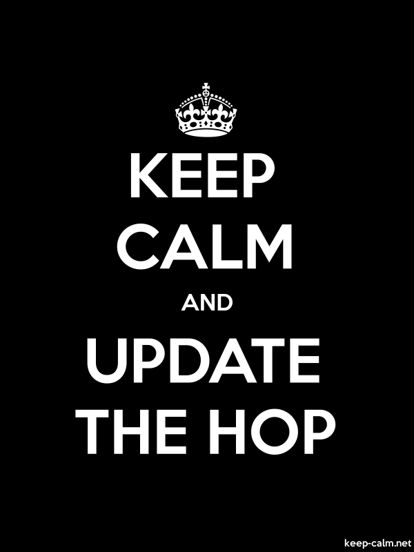 KEEP CALM AND UPDATE THE HOP - white/black - Default (600x800)