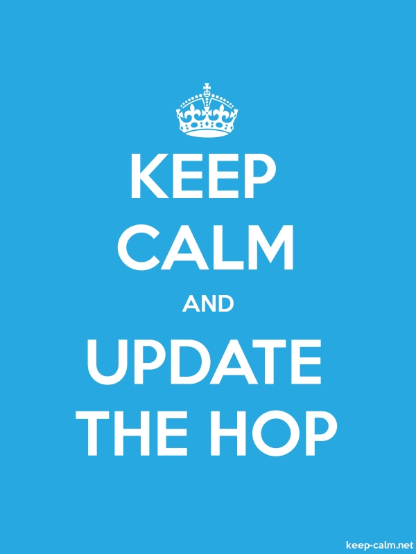 KEEP CALM AND UPDATE THE HOP - white/blue - Default (600x800)