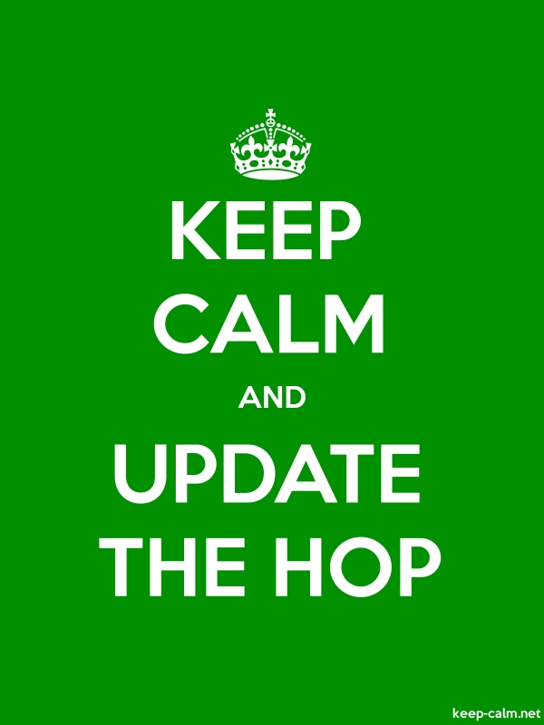 KEEP CALM AND UPDATE THE HOP - white/green - Default (600x800)