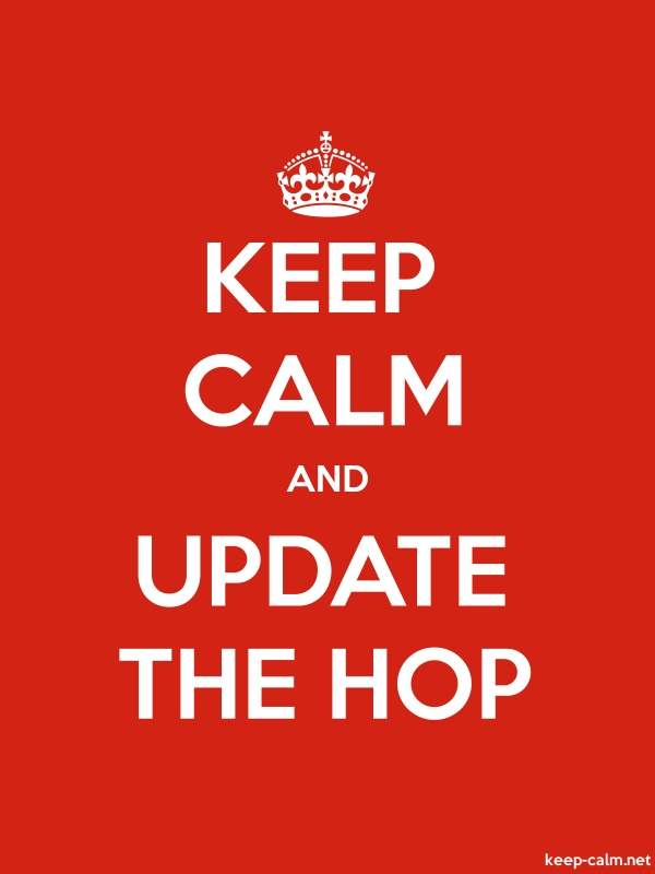 KEEP CALM AND UPDATE THE HOP - white/red - Default (600x800)