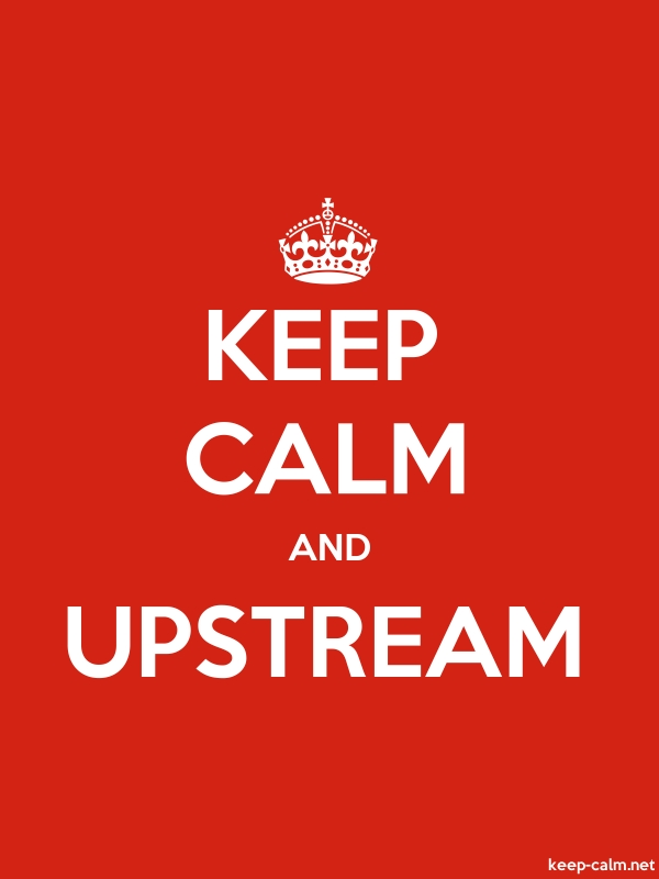KEEP CALM AND UPSTREAM - white/red - Default (600x800)