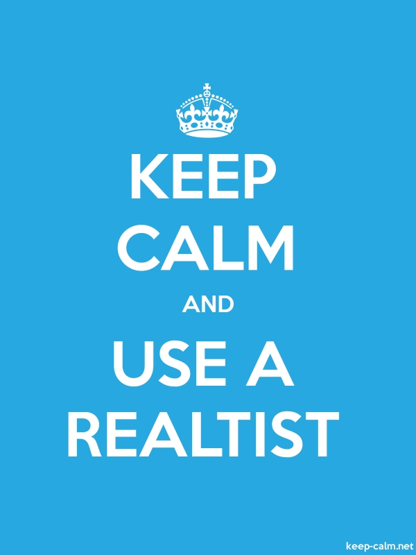 KEEP CALM AND USE A REALTIST - white/blue - Default (600x800)