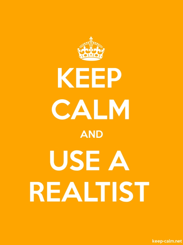 KEEP CALM AND USE A REALTIST - white/orange - Default (600x800)