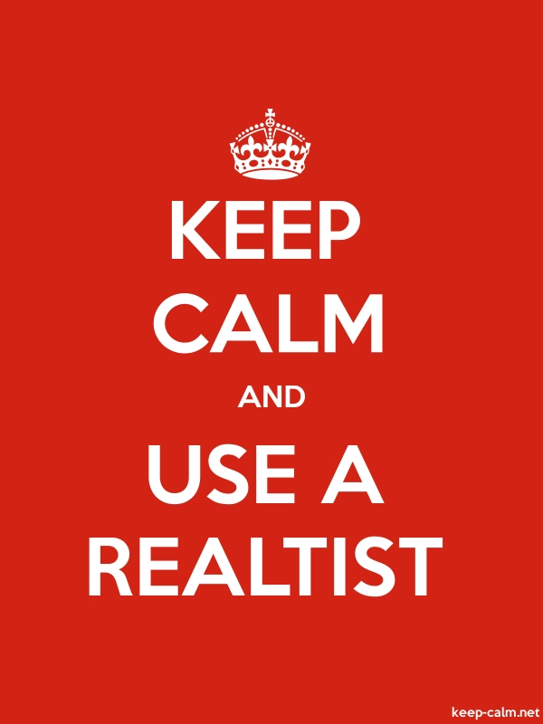 KEEP CALM AND USE A REALTIST - white/red - Default (600x800)