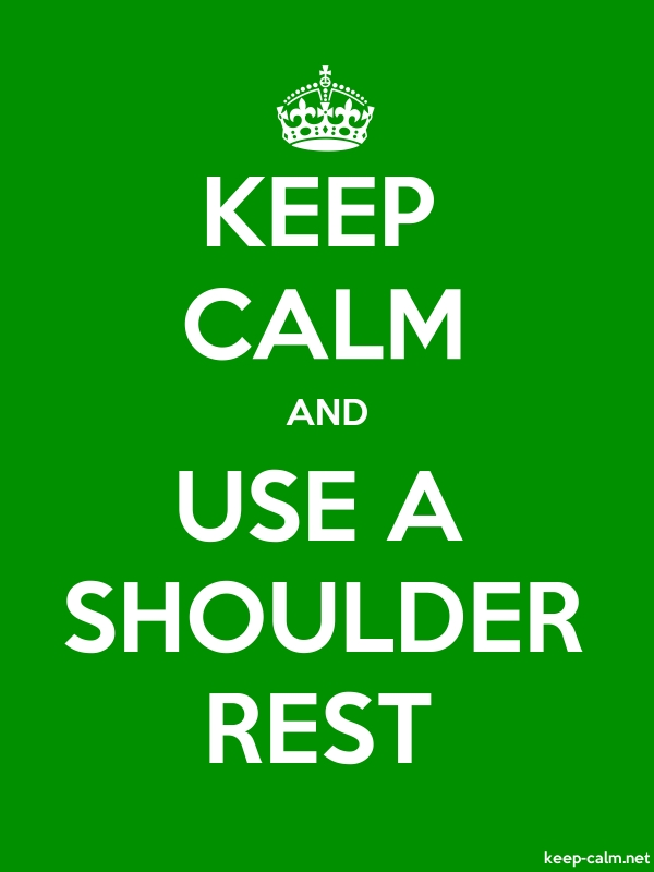 KEEP CALM AND USE A SHOULDER REST - white/green - Default (600x800)