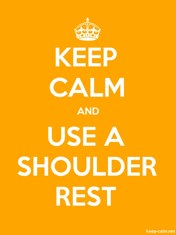 KEEP CALM AND USE A SHOULDER REST - white/orange - Default (600x800)