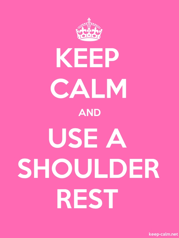 KEEP CALM AND USE A SHOULDER REST - white/pink - Default (600x800)