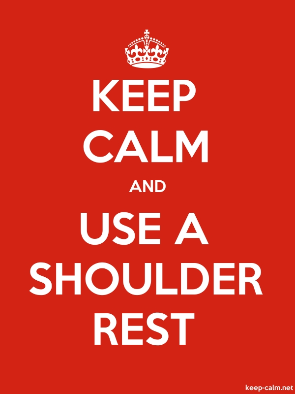 KEEP CALM AND USE A SHOULDER REST - white/red - Default (600x800)
