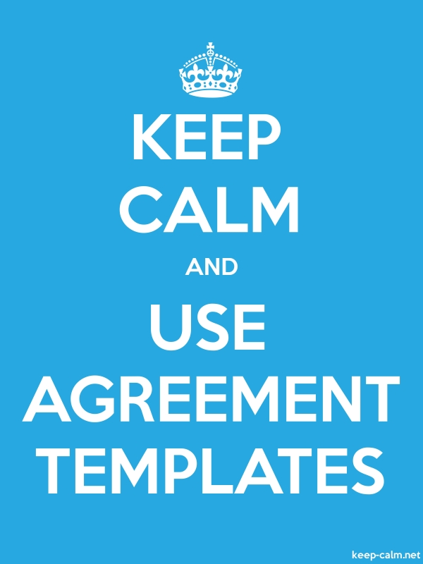 KEEP CALM AND USE AGREEMENT TEMPLATES - white/blue - Default (600x800)