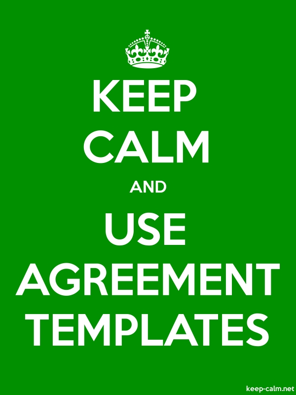 KEEP CALM AND USE AGREEMENT TEMPLATES - white/green - Default (600x800)