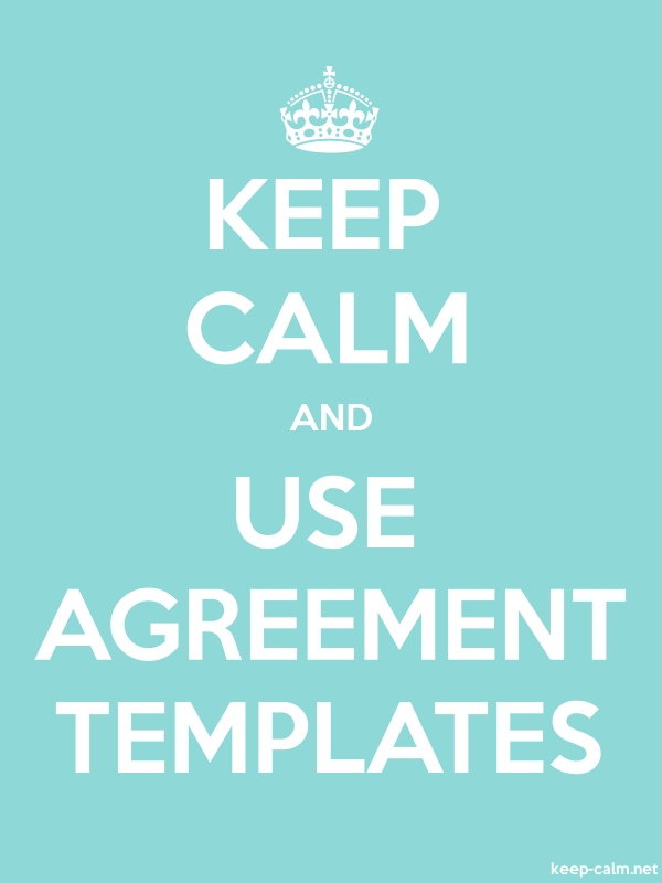 KEEP CALM AND USE AGREEMENT TEMPLATES - white/lightblue - Default (600x800)