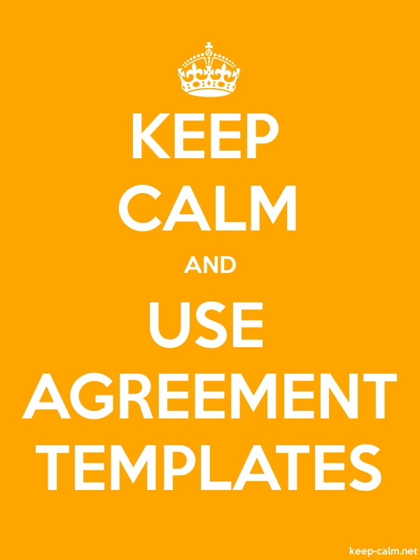 KEEP CALM AND USE AGREEMENT TEMPLATES - white/orange - Default (600x800)