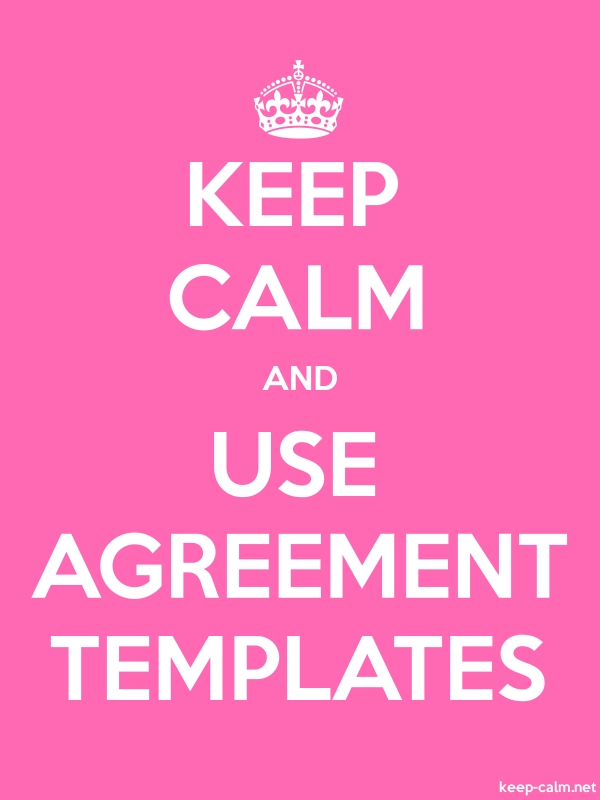 KEEP CALM AND USE AGREEMENT TEMPLATES - white/pink - Default (600x800)