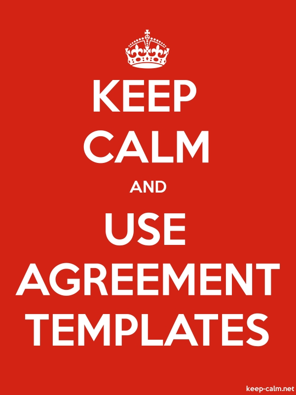 KEEP CALM AND USE AGREEMENT TEMPLATES - white/red - Default (600x800)