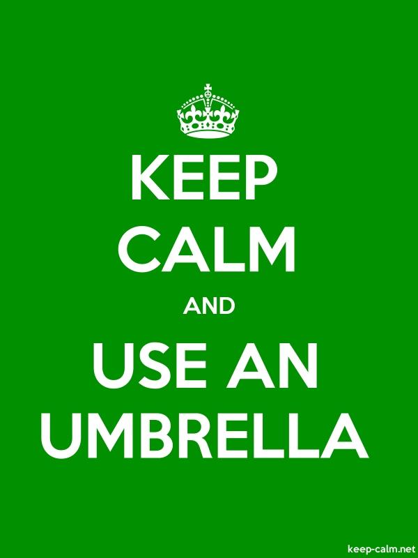 KEEP CALM AND USE AN UMBRELLA - white/green - Default (600x800)