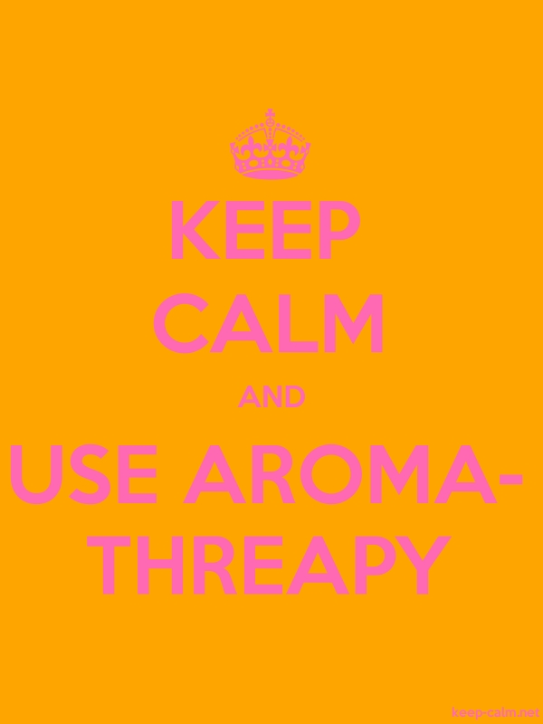 KEEP CALM AND USE AROMA- THREAPY - pink/orange - Default (600x800)
