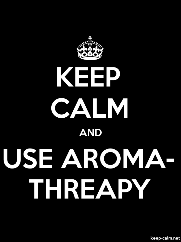 KEEP CALM AND USE AROMA- THREAPY - white/black - Default (600x800)