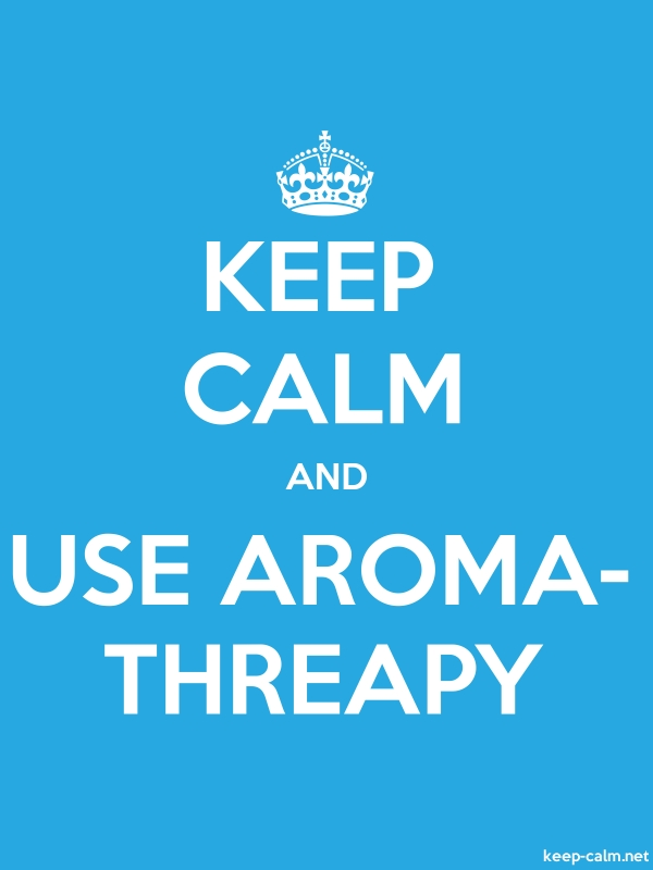 KEEP CALM AND USE AROMA- THREAPY - white/blue - Default (600x800)