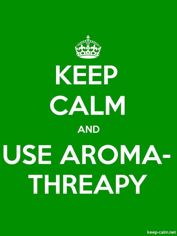 KEEP CALM AND USE AROMA- THREAPY - white/green - Default (600x800)