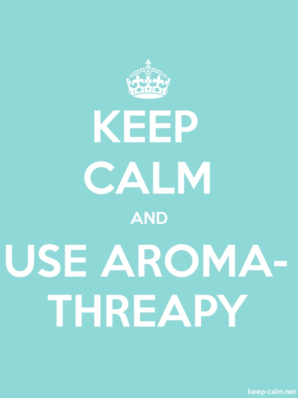 KEEP CALM AND USE AROMA- THREAPY - white/lightblue - Default (600x800)