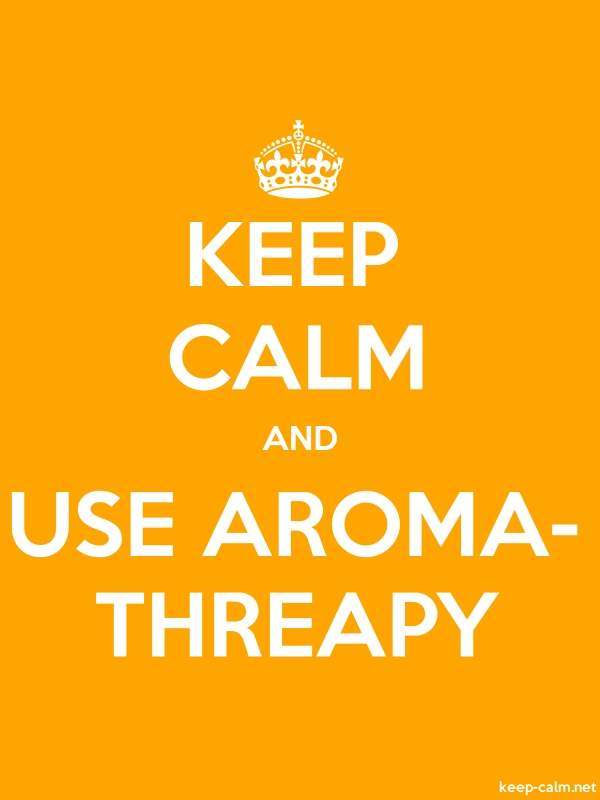 KEEP CALM AND USE AROMA- THREAPY - white/orange - Default (600x800)