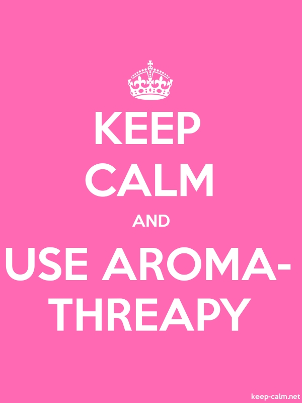 KEEP CALM AND USE AROMA- THREAPY - white/pink - Default (600x800)