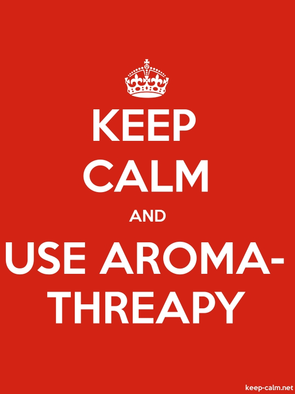 KEEP CALM AND USE AROMA- THREAPY - white/red - Default (600x800)