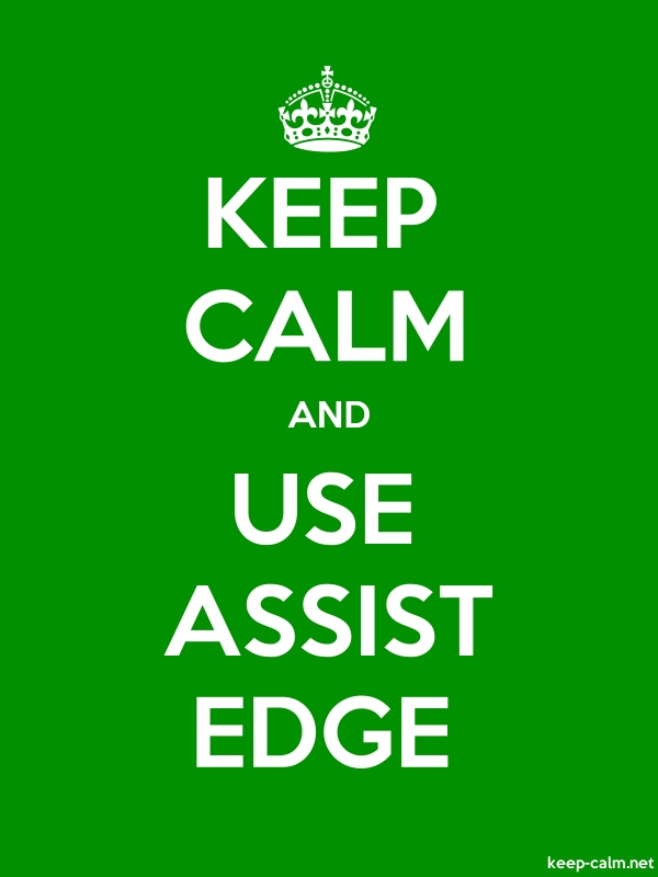 KEEP CALM AND USE ASSIST EDGE - white/green - Default (600x800)
