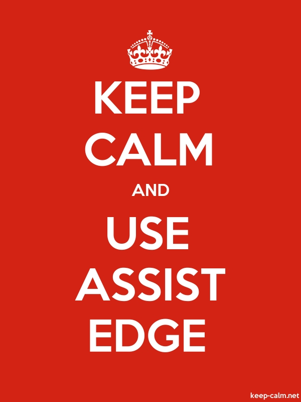 KEEP CALM AND USE ASSIST EDGE - white/red - Default (600x800)