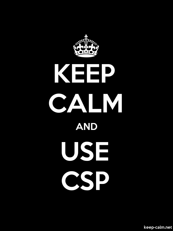 KEEP CALM AND USE CSP - white/black - Default (600x800)