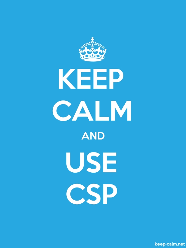 KEEP CALM AND USE CSP - white/blue - Default (600x800)