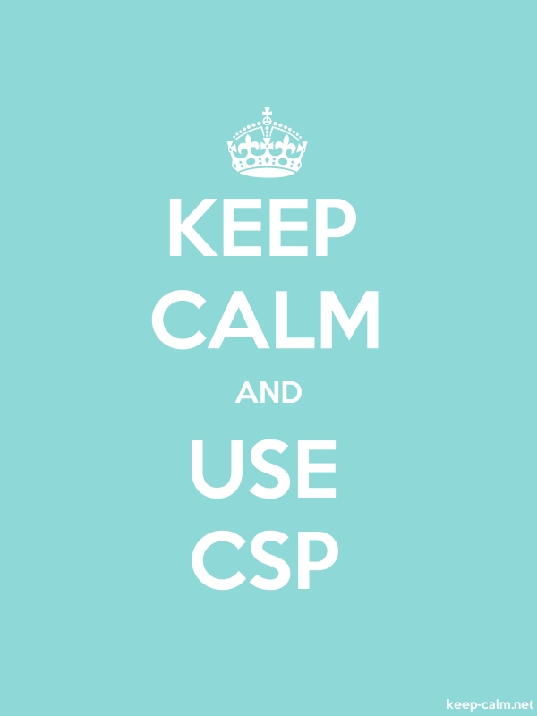 KEEP CALM AND USE CSP - white/lightblue - Default (600x800)