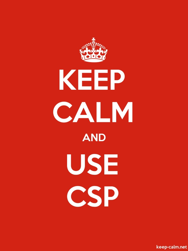 KEEP CALM AND USE CSP - white/red - Default (600x800)