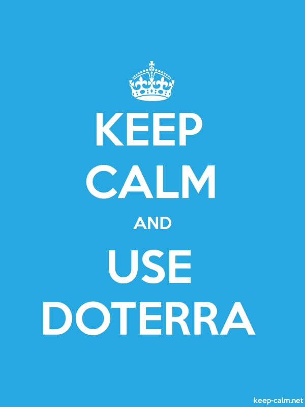KEEP CALM AND USE DOTERRA - white/blue - Default (600x800)