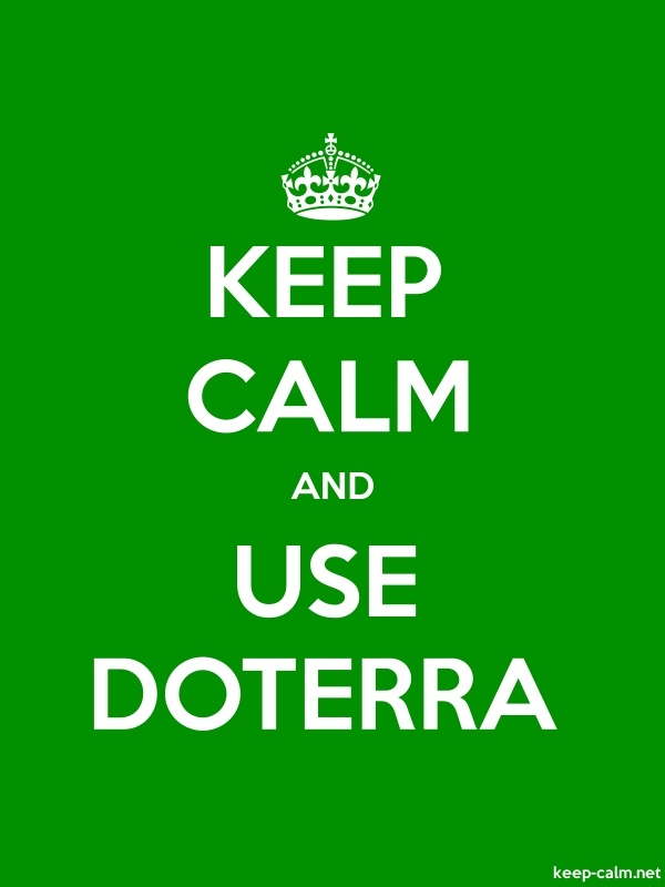 KEEP CALM AND USE DOTERRA - white/green - Default (600x800)