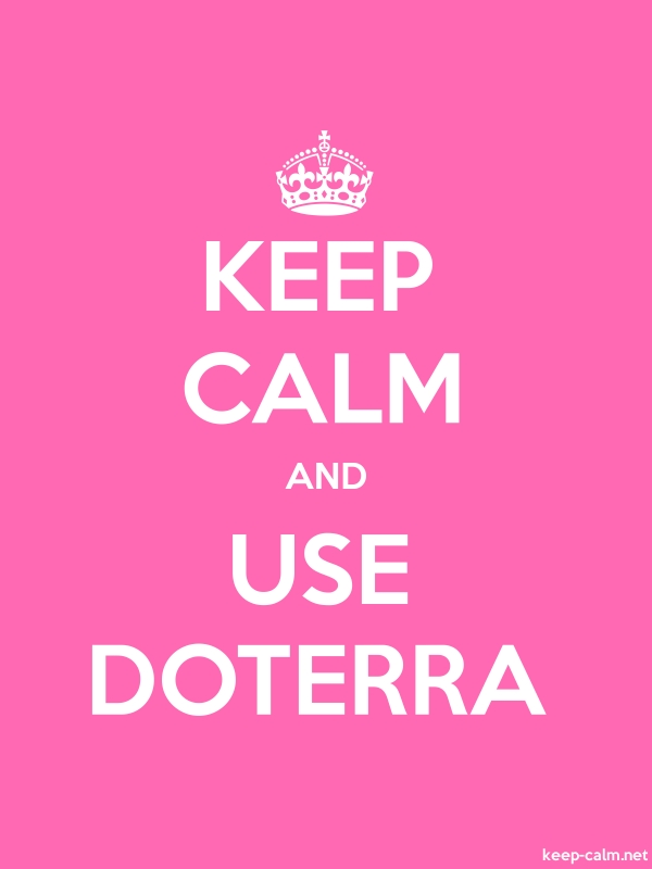 KEEP CALM AND USE DOTERRA - white/pink - Default (600x800)